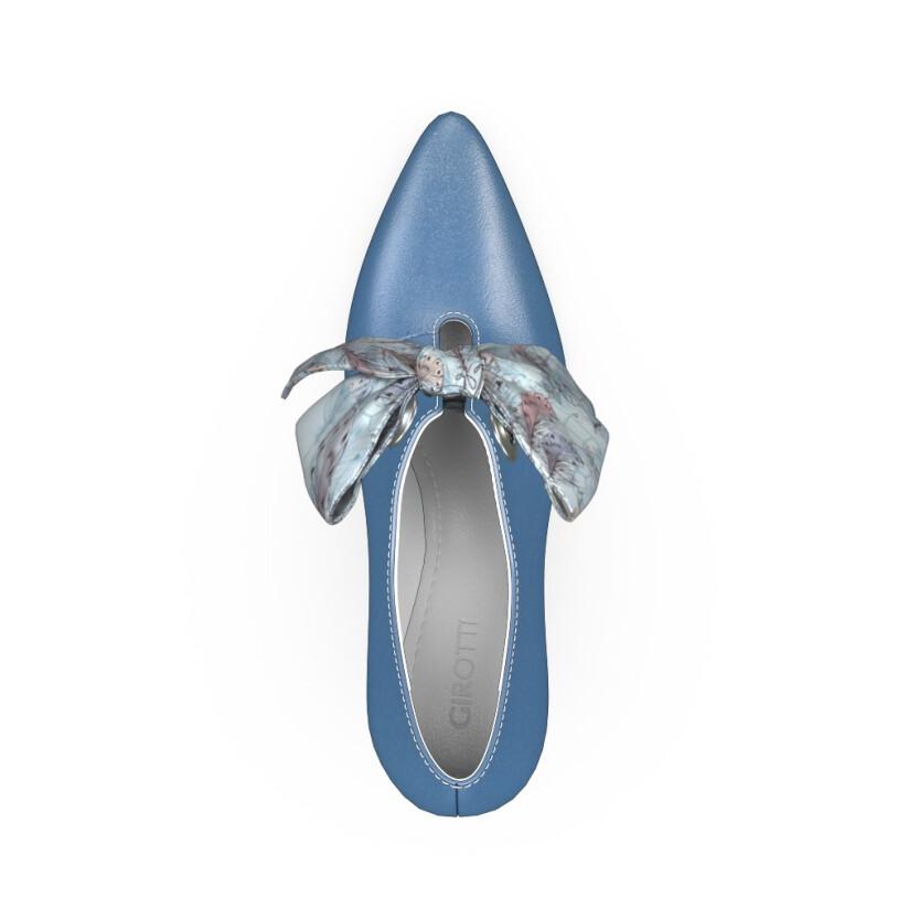Chaussures pointues à talon large 14825