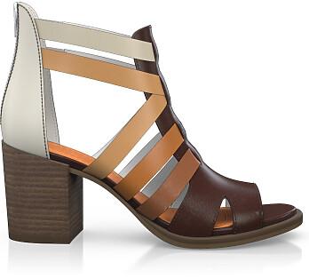 Sandales à Talon Large 4506