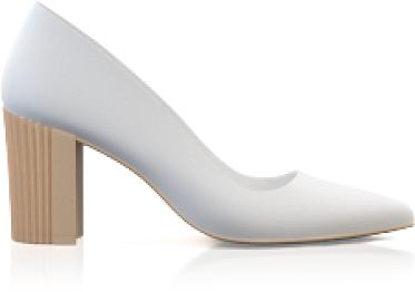 Chaussures à talon compensé métallique