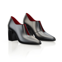 BLOCK HEEL POINTED TOE SHOES 7305