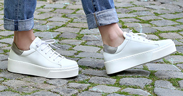 Classic white sneakers