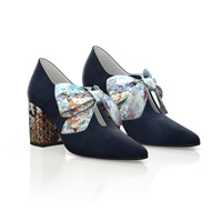 BLOCK HEEL POINTED TOE SHOES 15169