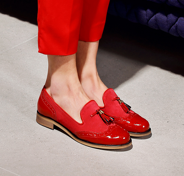 Red slip-ons