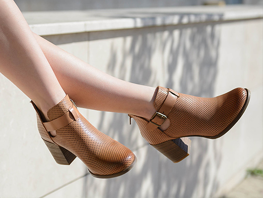 Caramel ankle boots