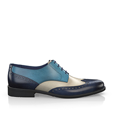 Multicolored derby shoes